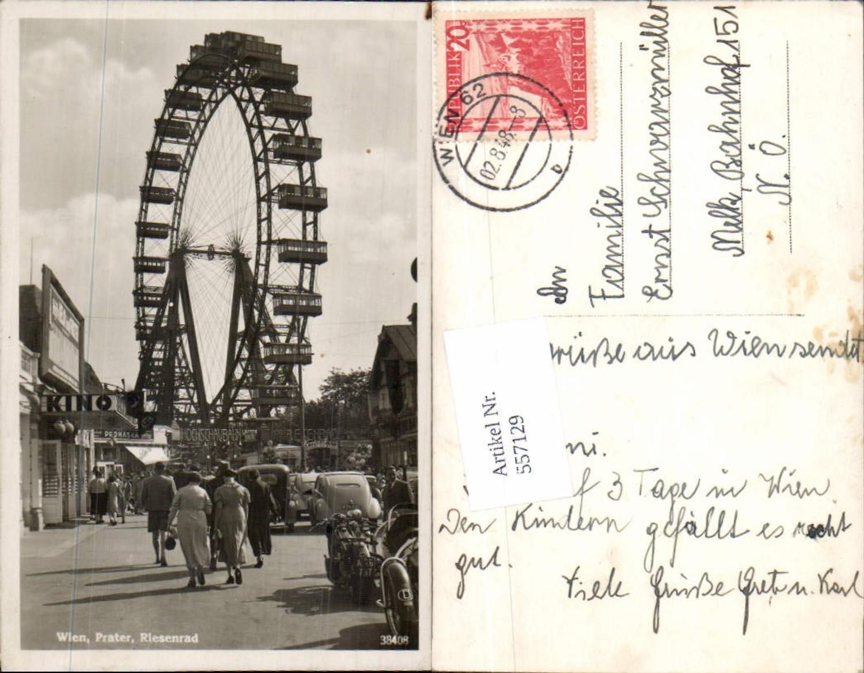 557129,Wien Prater Riesenrad Kino Motorrad beflaggt Fahne günstig online kaufen