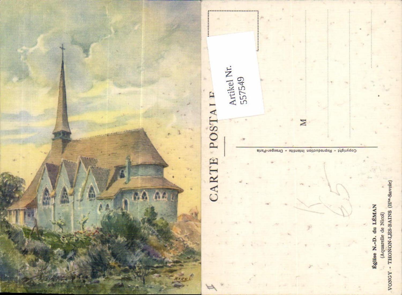 557549,KÜnstler AK Aquarelle de Nicol Haute Savoie Thonon les Bains günstig online kaufen