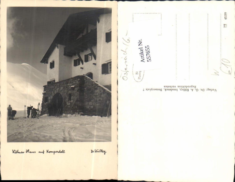 557655,Foto-AK Kölner Haus auf Komperdell b. Serfaus Skifahrer Ski pub Dr. Külley  günstig online kaufen