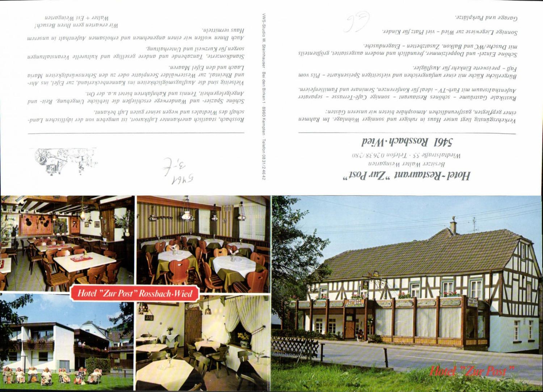 557737,Klapp-AK Rossbach Wied Restaurant Zur Post Rengsdorf Waldbreitbach LK Neuwied günstig online kaufen