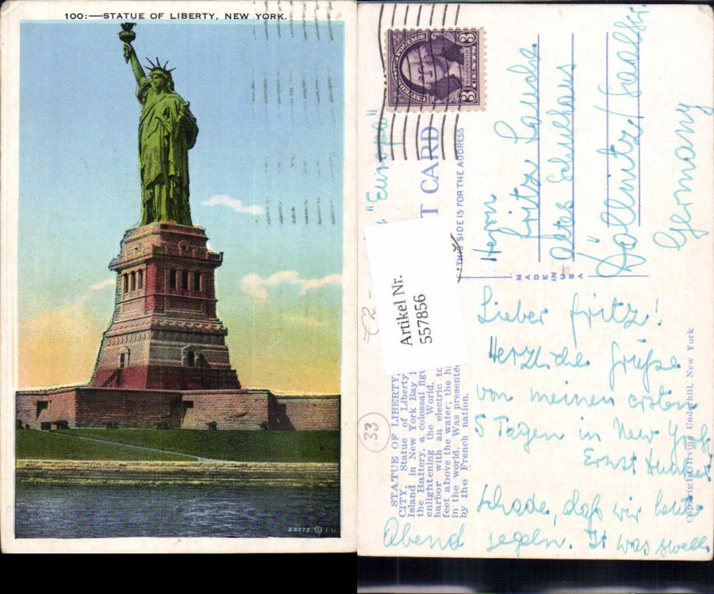 557856,New York City Statue of Liberty Freihheitsstatue Bedloas Island günstig online kaufen