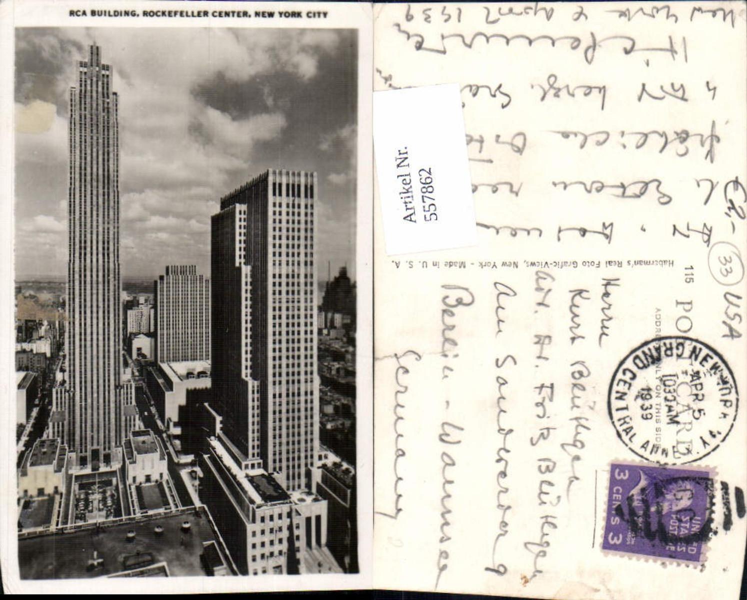 557862,New York City Rockefeller Center RCA Building günstig online kaufen
