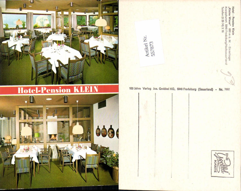 557873,Bad Fredeburg Hochsauerland Hotel Pension Klein Kleins Wiese Gaststube Speisesaal günstig online kaufen