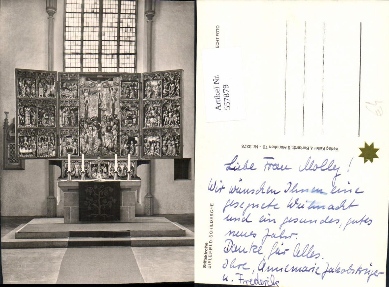 557879,Foto Ak Bielefeld Schildesche Stiftskirche Kirche Altar Religion günstig online kaufen