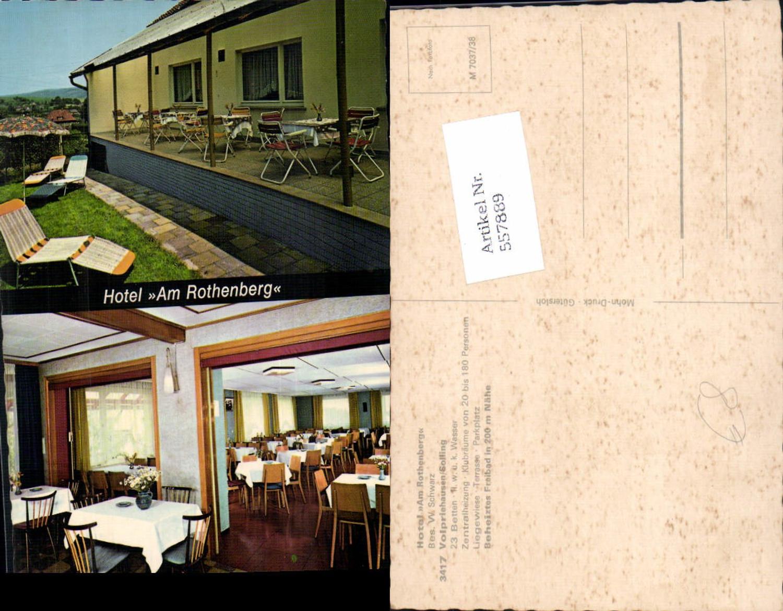 557889,Mehrbild Ak Volpriehausen Solling b. Uslar Hotel Am Rothenberg Speisesaal Terrasse günstig online kaufen