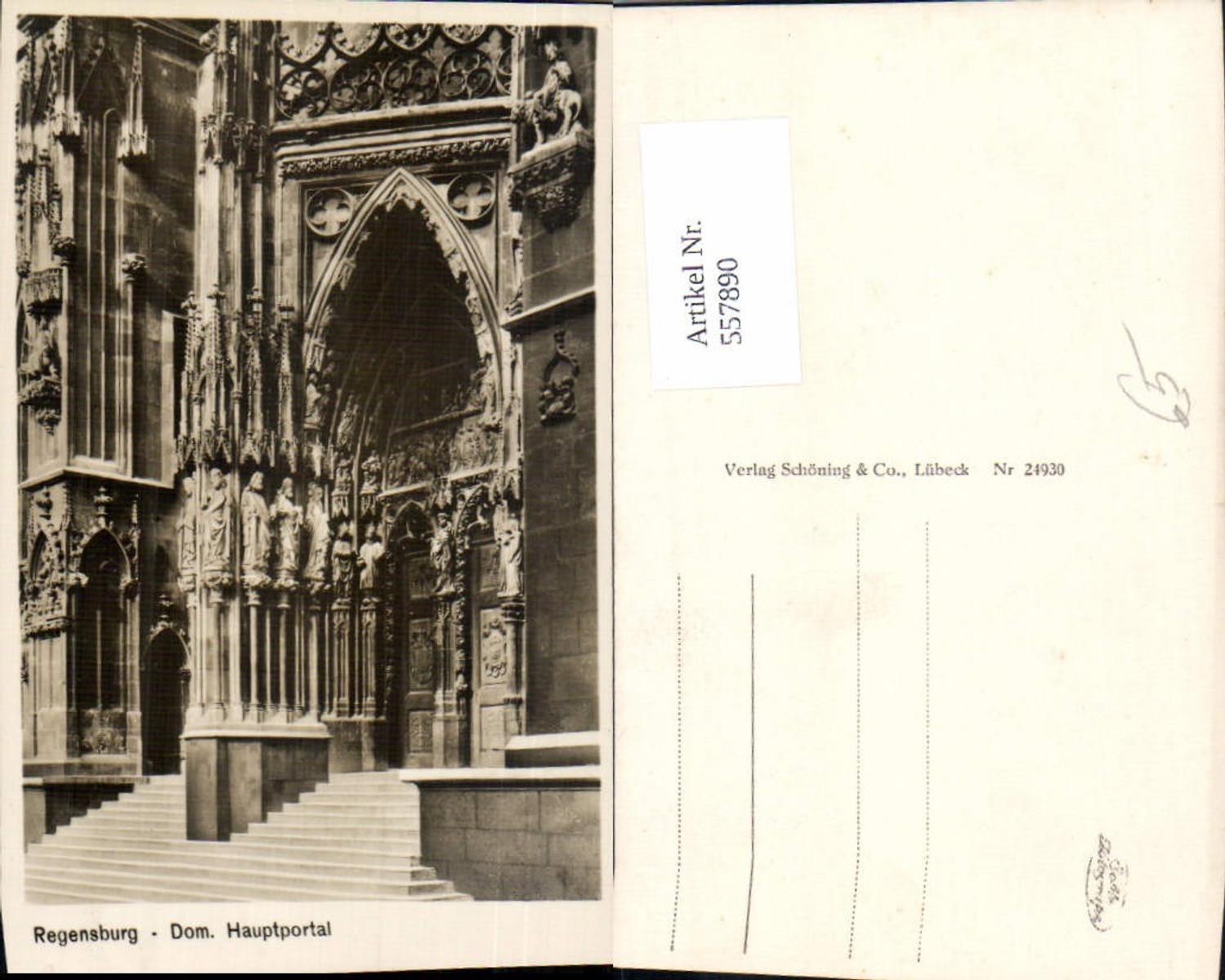 557890,Foto Ak Regensburg Dom Hauptportal günstig online kaufen