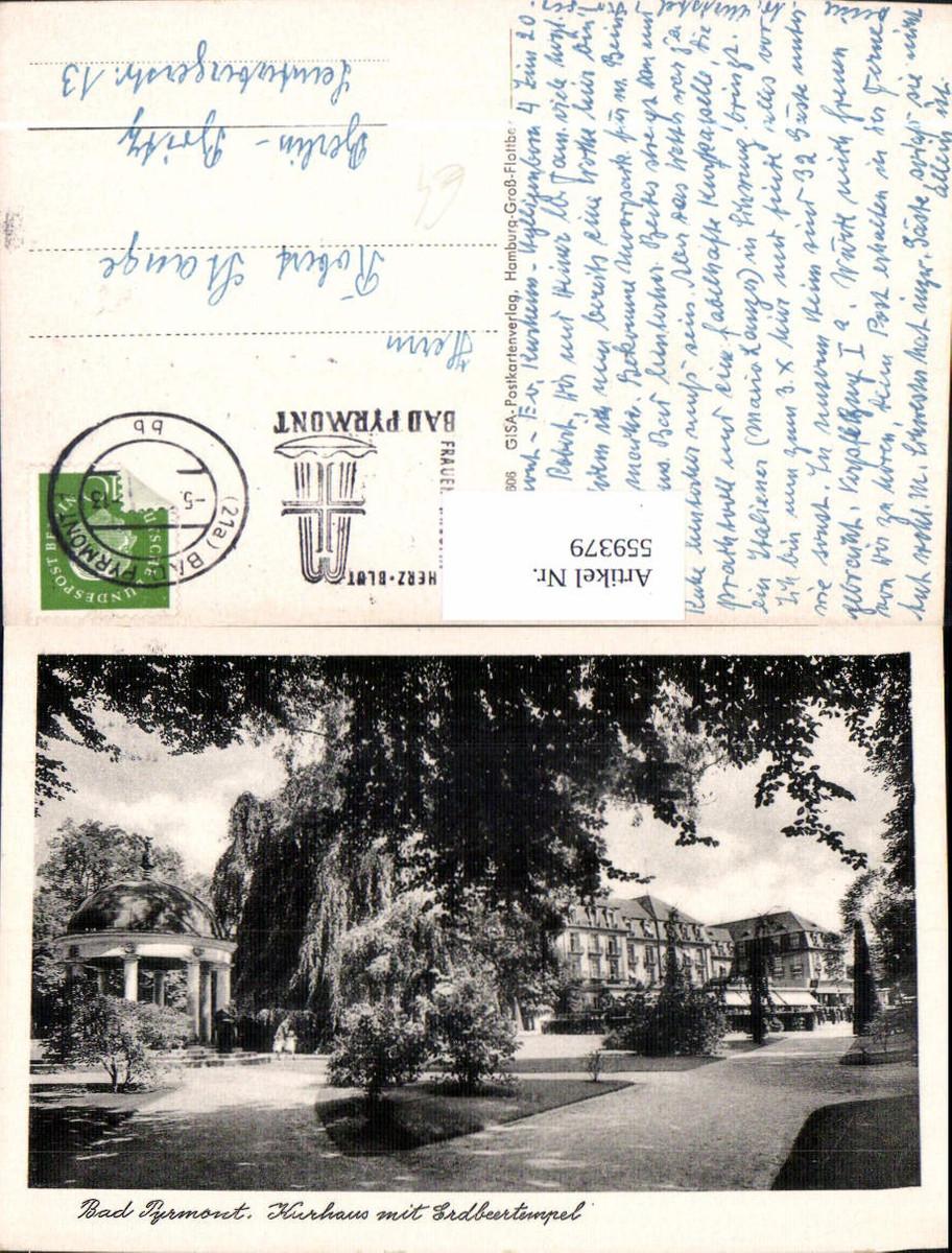 559379,Bad Pyrmont Kurhaus m. Erdbeertempel Tempel günstig online kaufen