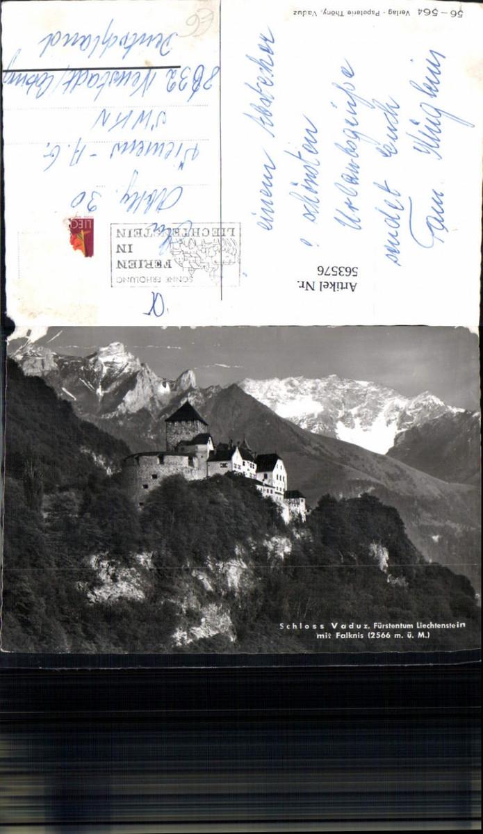 563576,Schloss Vaduz m. Falknis Liechtenstein günstig online kaufen