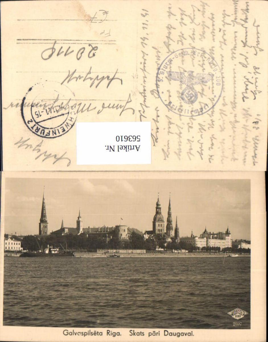 563610,Riga Skats pari Daugavai Feldpost 3. Sturm-Geschütz-Ersatz-Abteilung 200 günstig online kaufen