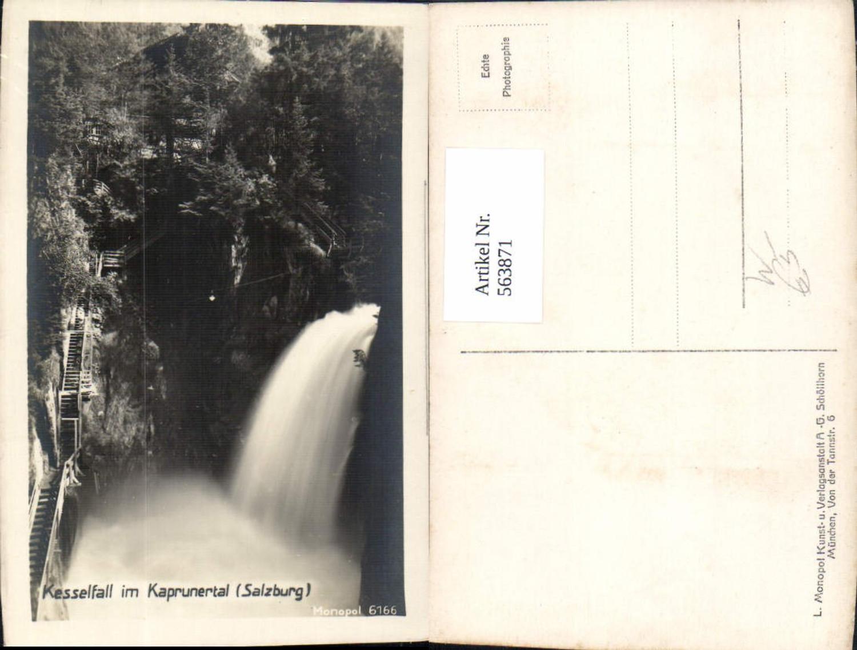 563871,Foto Ak Kaprun Kesselfall i. Kaprunertal Wasserfall günstig online kaufen