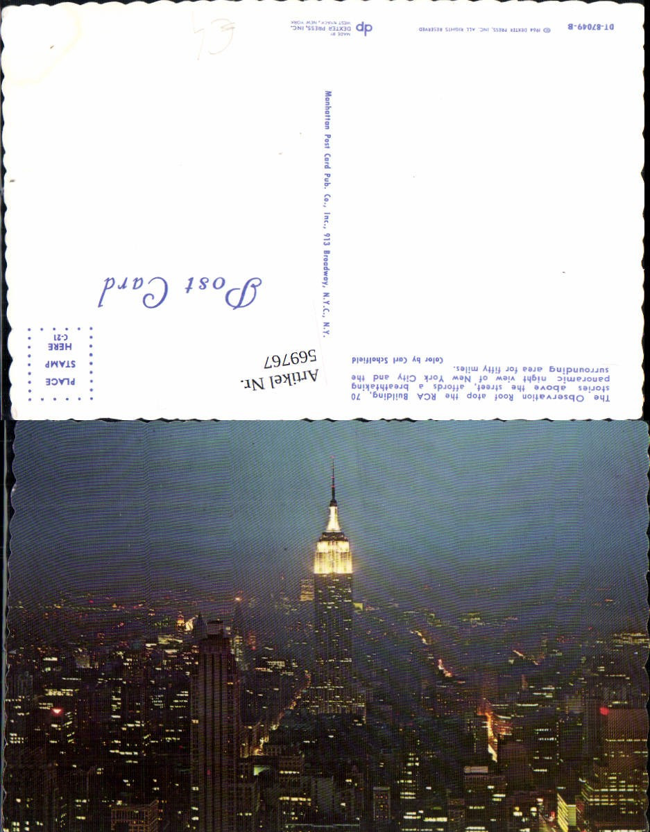 569767,USA New York City Observation Roof RCA Building Wolkenkratzer günstig online kaufen