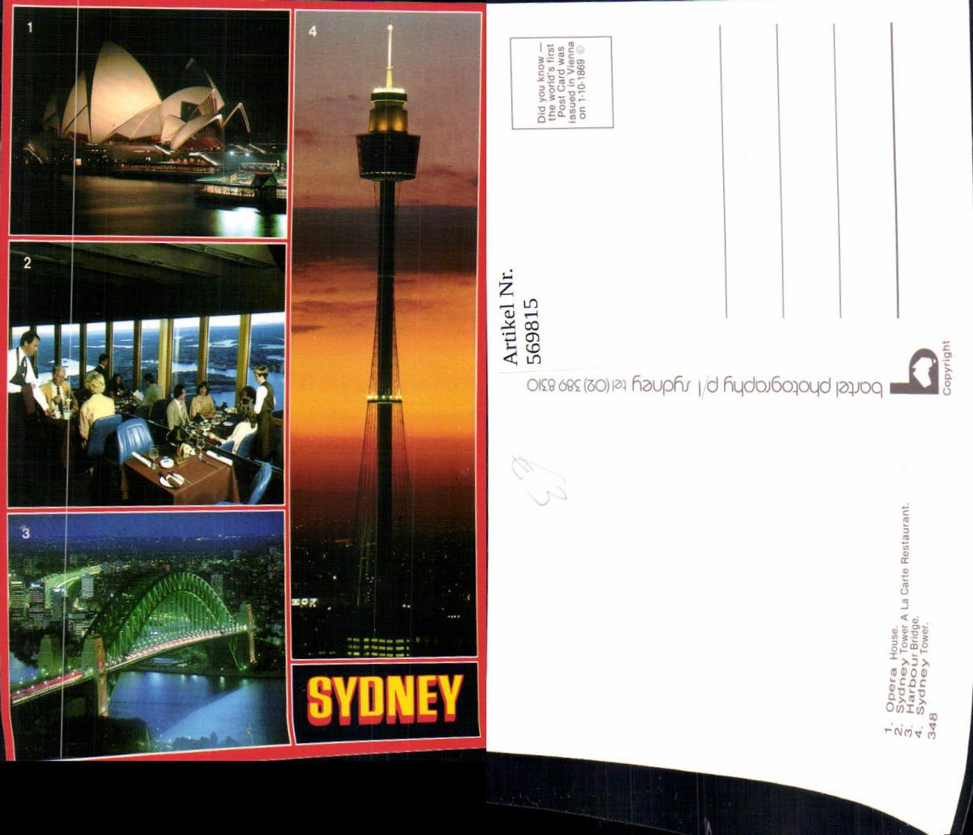 569815,Mehrbild Ak Sydney Opera House Sydney Tower Harbour Bridge Australia Australien günstig online kaufen