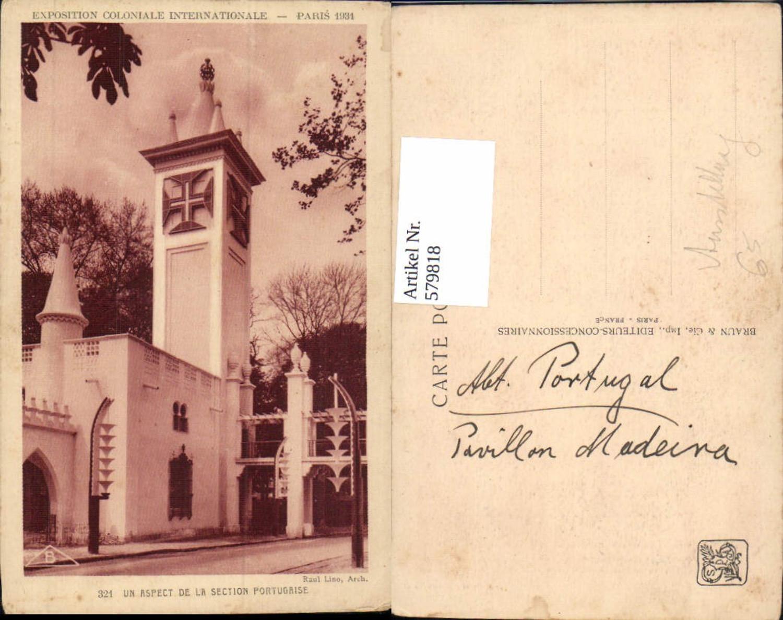 579818,Exposition Coloniale Internationale Paris 1931 Ausstellung Un aspect de la section Portugaise günstig online kaufen