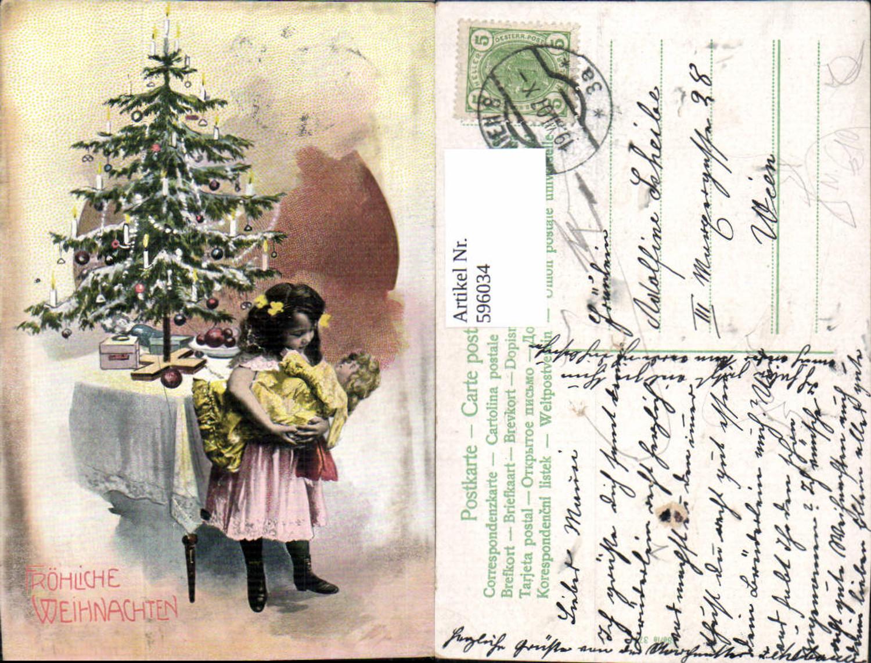 Geschenke Günstig Weihnachten.596034 Weihnachten Mädchen M Puppe Weihnachtsbaum Christbaum