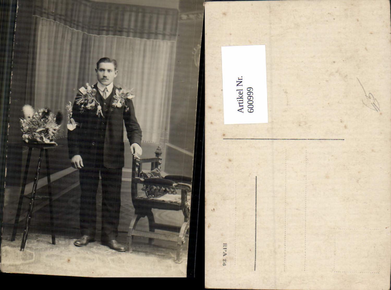 600999,Foto Ak Mann Anzug Stellung Musterung WW1 günstig online kaufen