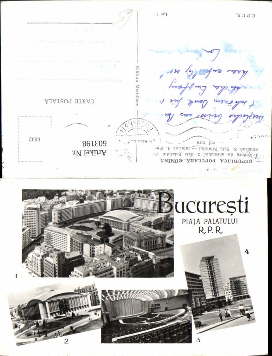 603198,Mehrbild Ak Bucuresti Bukarest Piata Palatului Romania günstig online kaufen