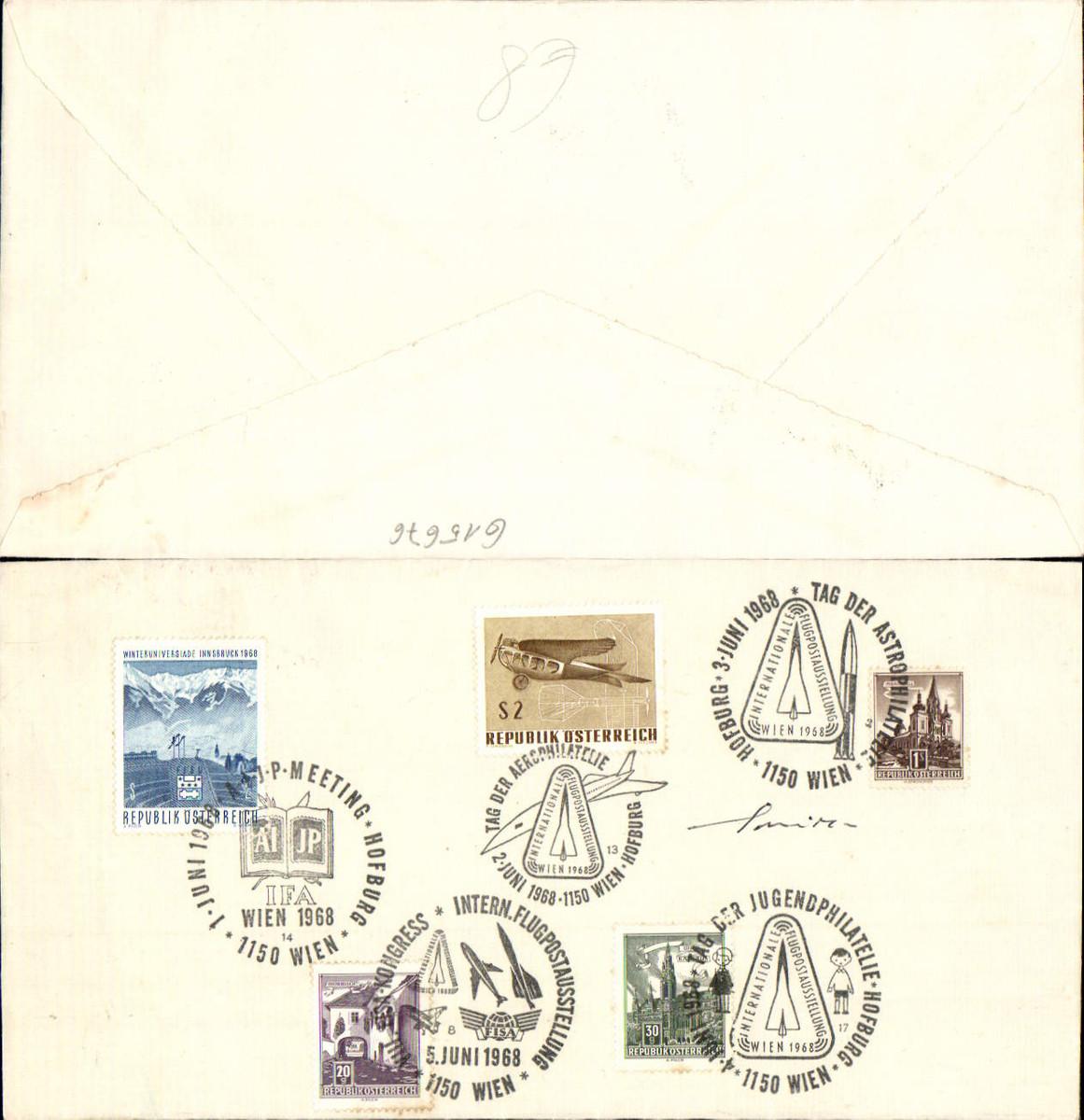 615676,Sonderstempel 5 Stp. Flugpostausstellung Astrophilatelie Jugendphilatelie 1968 günstig online kaufen