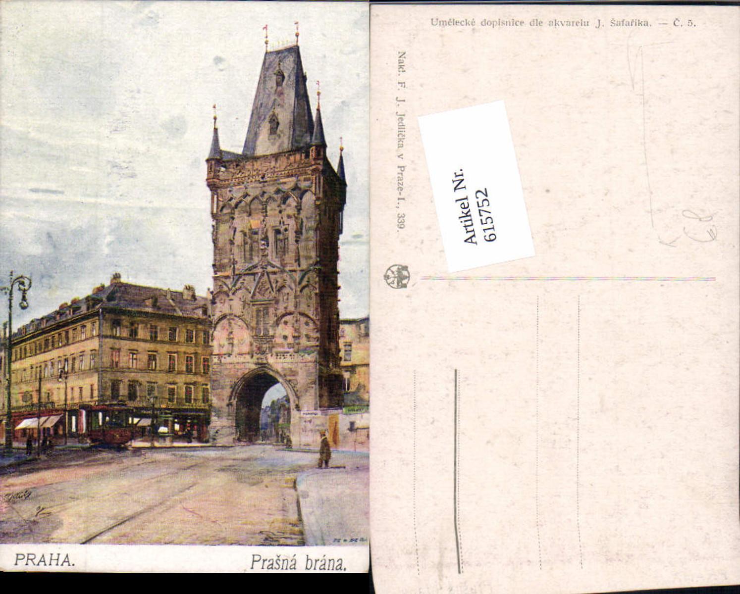 615752,Künstler AK J. Safarika Prag Praha Prasna brana günstig online kaufen