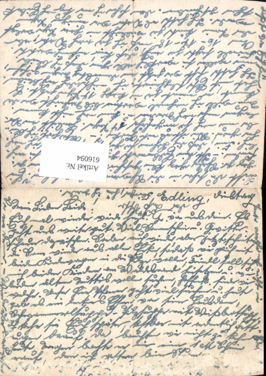 616094,WK 2 Feldpost Edling Lk Rosenheim Wasserburg Feldpostbrief günstig online kaufen