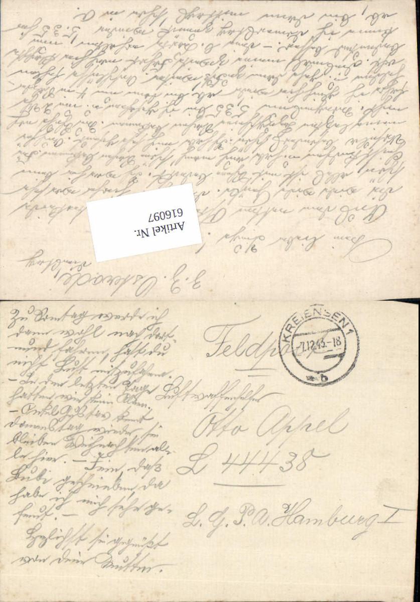 616097,WK 2 Feldpost Kreiensen n. Luftgaupostamt Hamburg 44438 günstig online kaufen