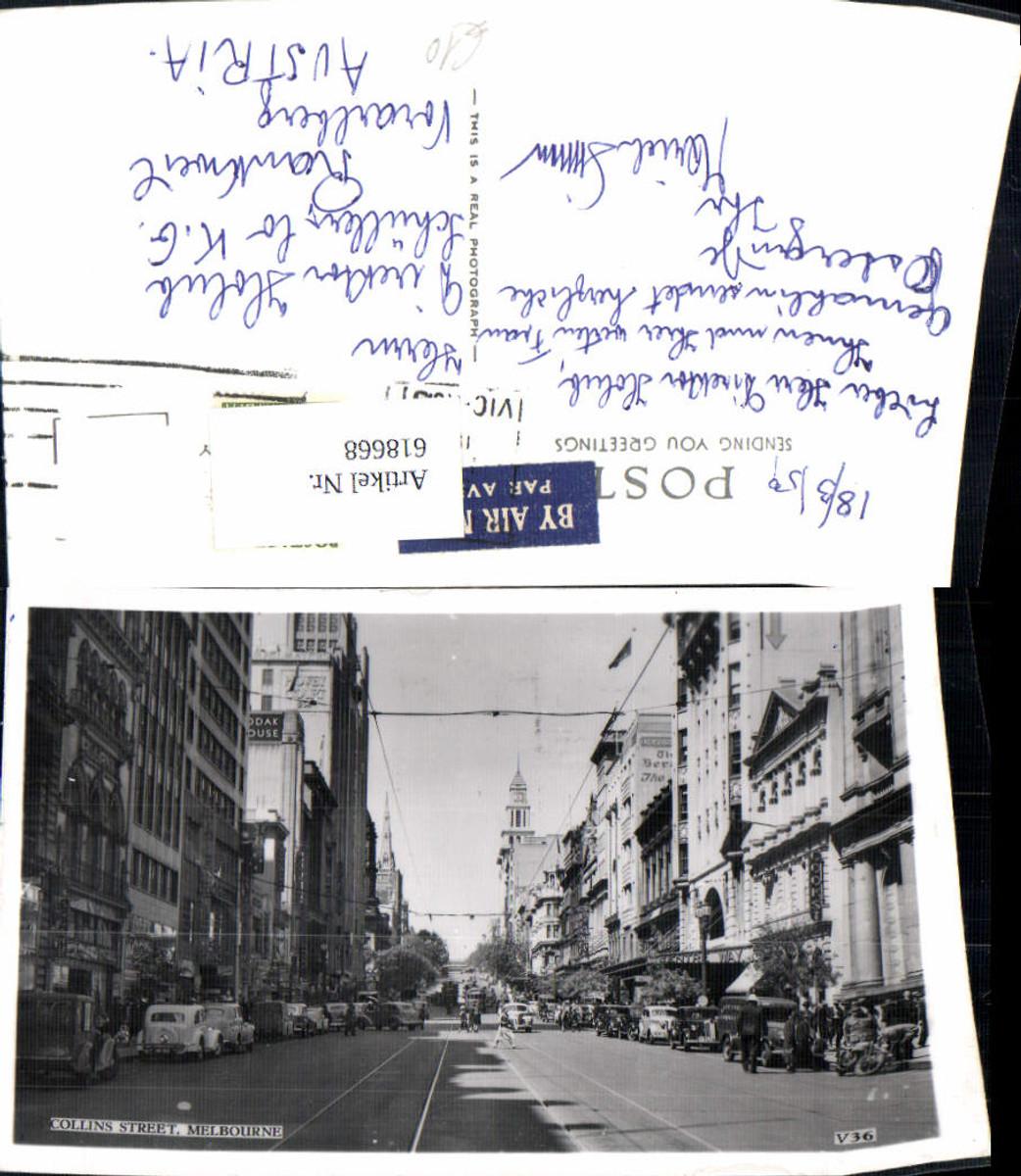 618668,Foto Ak Melbourne Collins Street Auto 1959 Australia günstig online kaufen