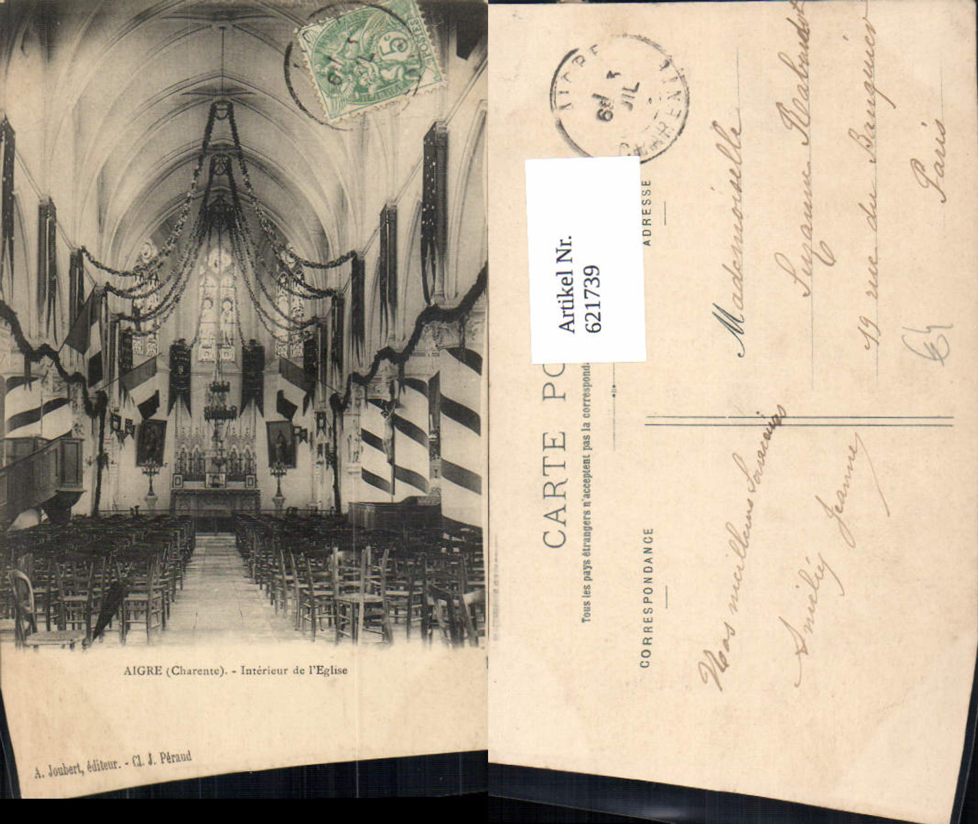 621739,Aigre Charente Interieur de l Eglise Kirche Innenansicht France günstig online kaufen