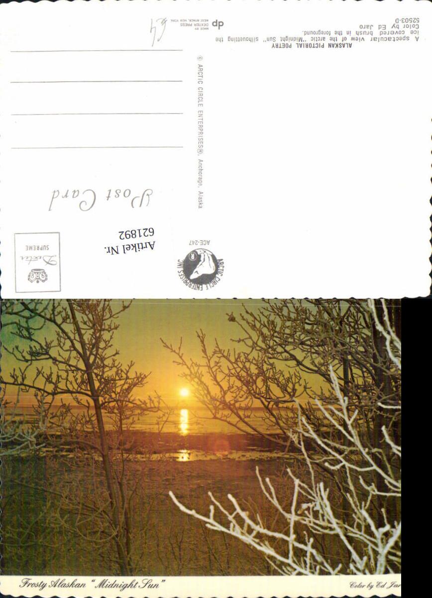 621892,Alaskan Pictorial Poetry Midnight Sun Landschaft Alaska günstig online kaufen
