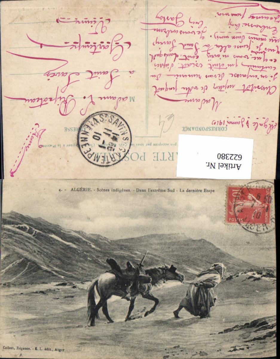 622380,Algerie Scenes indigenes Dans l extreme Sud La dernitere Etage Volkstyp Pferd Algeria günstig online kaufen