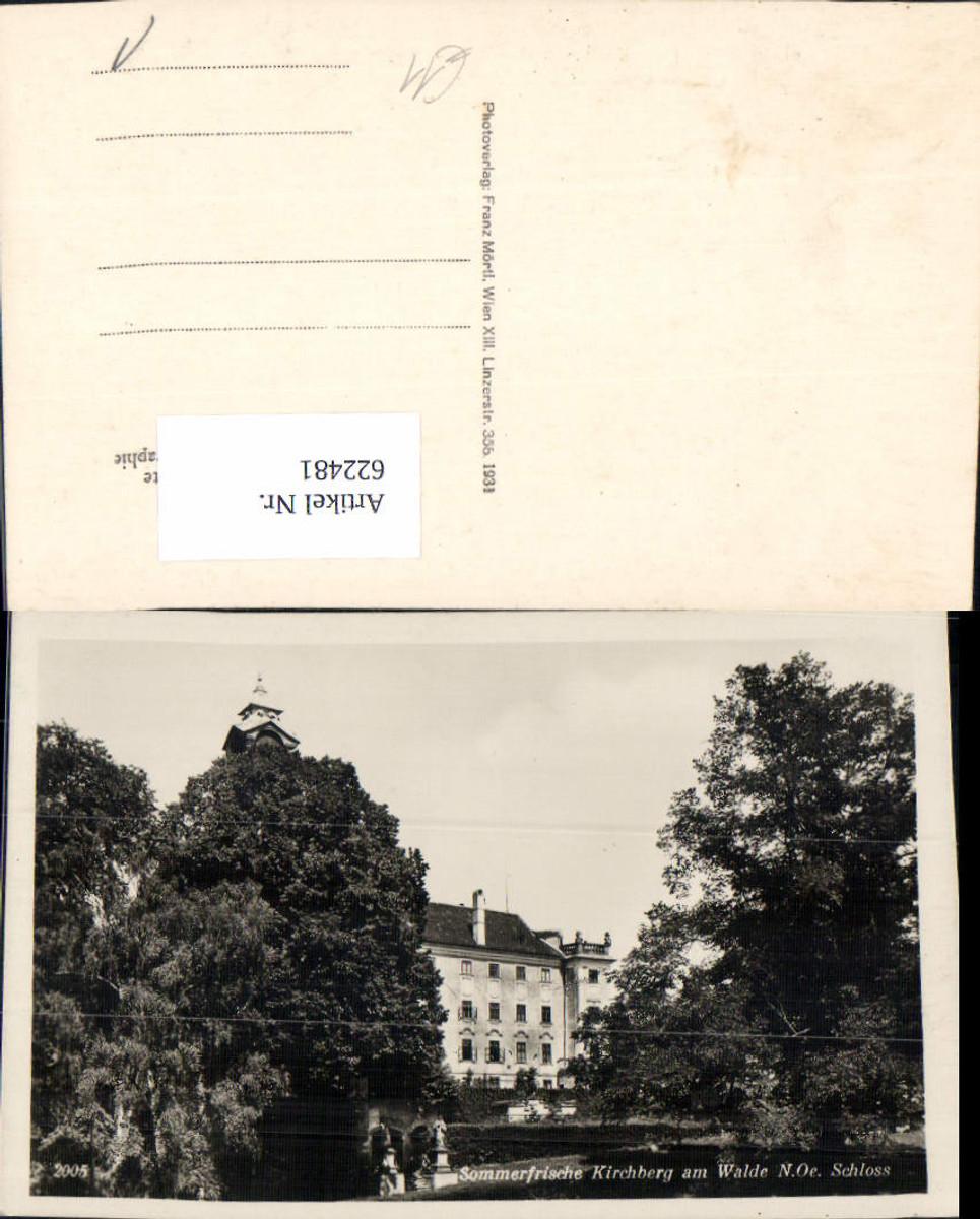 622481,Foto Ak Kirchberg a. Walde Schloss günstig online kaufen