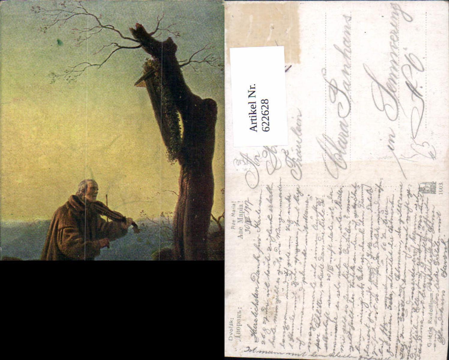 622628,Künstler Ak Dvorak Ave Maria Mönch spielt Geige Religion günstig online kaufen