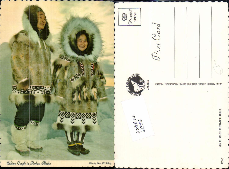 623302,Eskimo Inuit couple beautiful parkas Alaska  günstig online kaufen