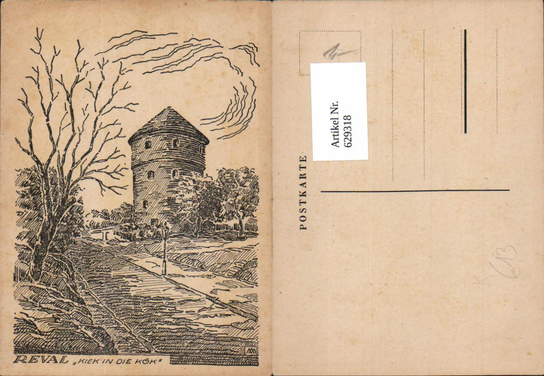 629318,tolle Künstler AK Talinn Reval Estonia kiek in die Kök  günstig online kaufen