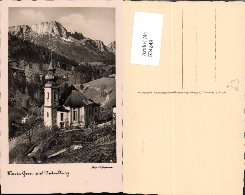 534249,Foto Ak Berchtesgaden Maria Gern m.Untersberg Kirche günstig online kaufen