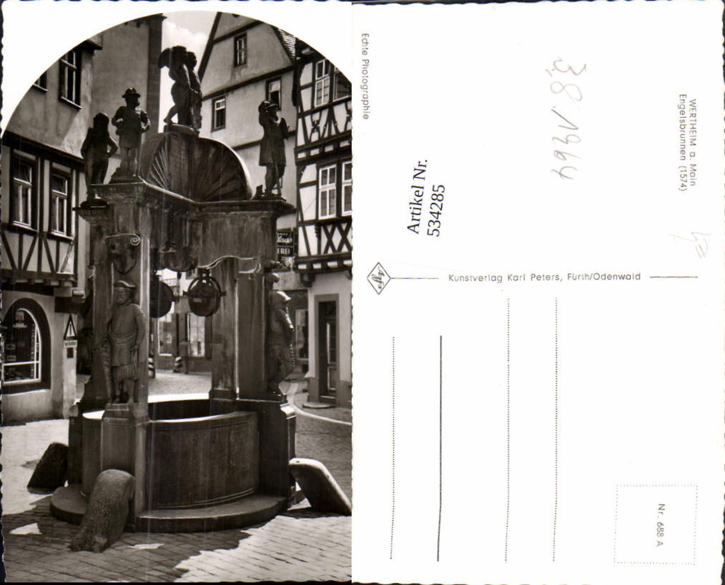 534285,Foto Ak Wertheim a. Main Engelsbrunnen Brunnen günstig online kaufen