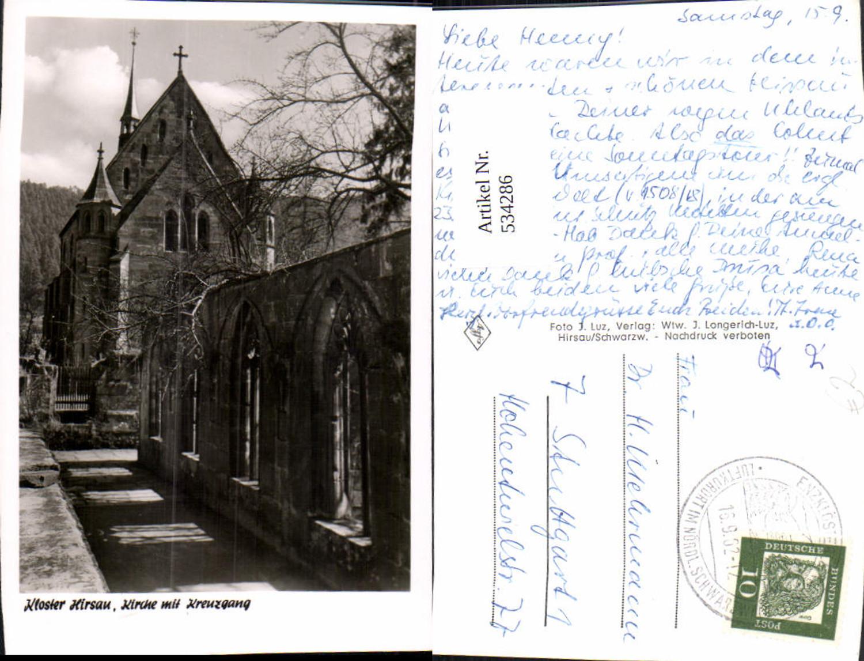 534286,Foto Ak Hirsau Calw Kloster Hirsau Kirche m. Kreuzgang günstig online kaufen