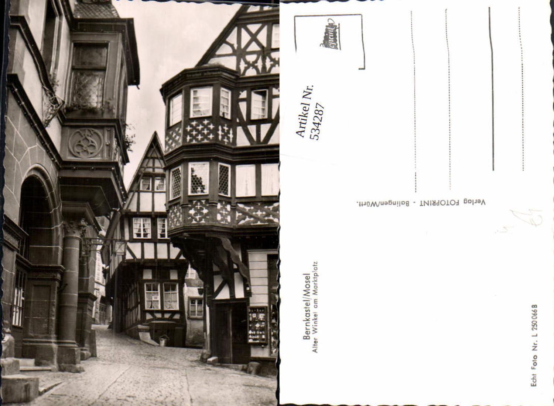 534287,Foto Ak Bernkastel-Kues Bernkastel Mosel Alter Winkel a. Marktplatz Fachwerkhaus günstig online kaufen