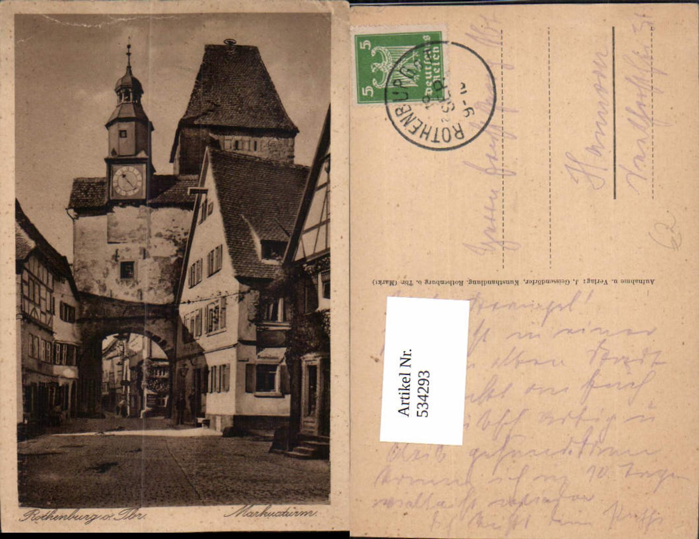 534293,Rothenburg ob der Tauber Markusturm Turm günstig online kaufen