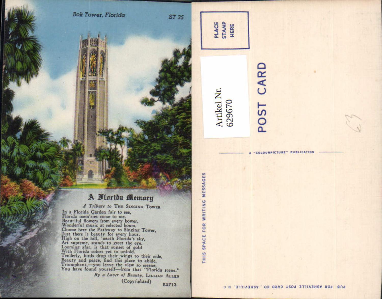 629670,Bok Tower Florida  A Florida Memory The Singing Tower günstig online kaufen