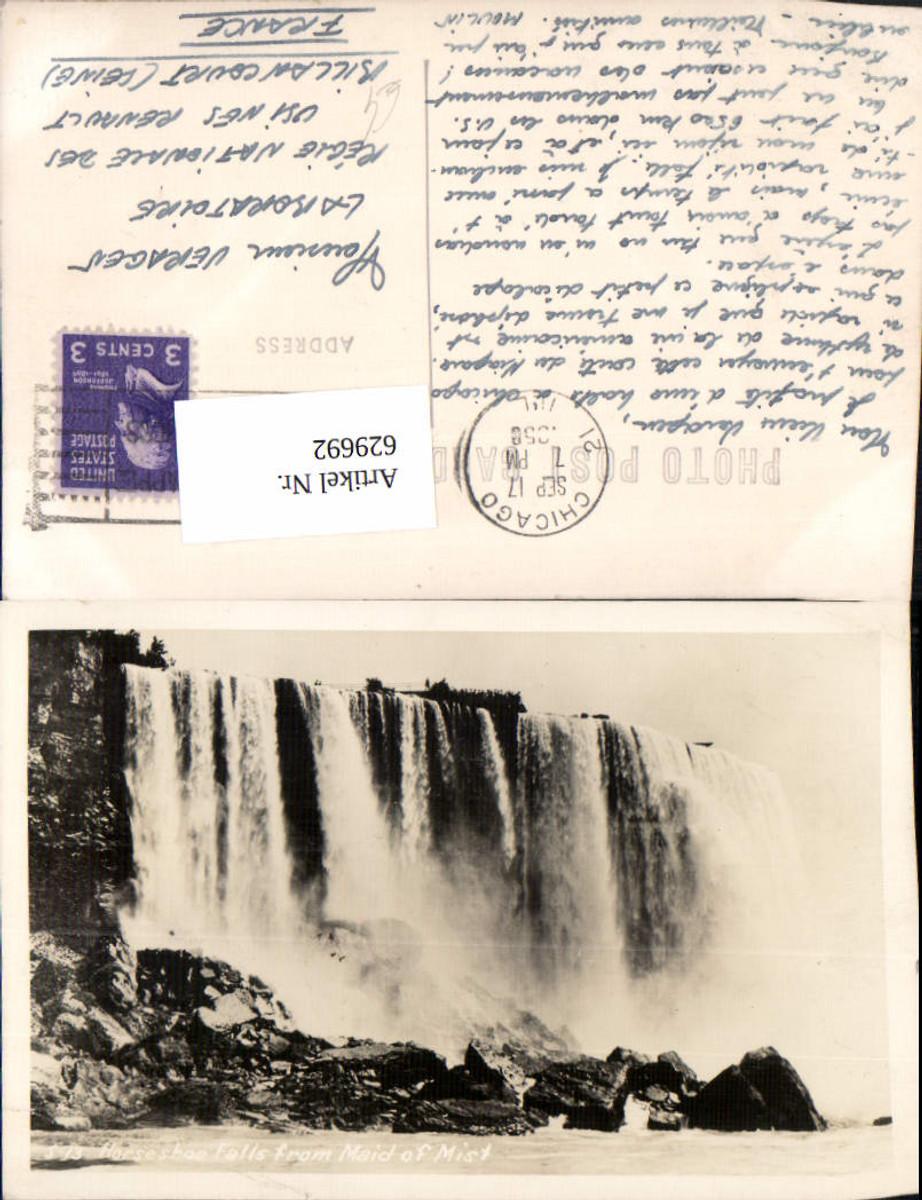 629692,Foto Ak Horseshoe Falls from Maid of Mist Wasserfall Niagara Falls Canada günstig online kaufen