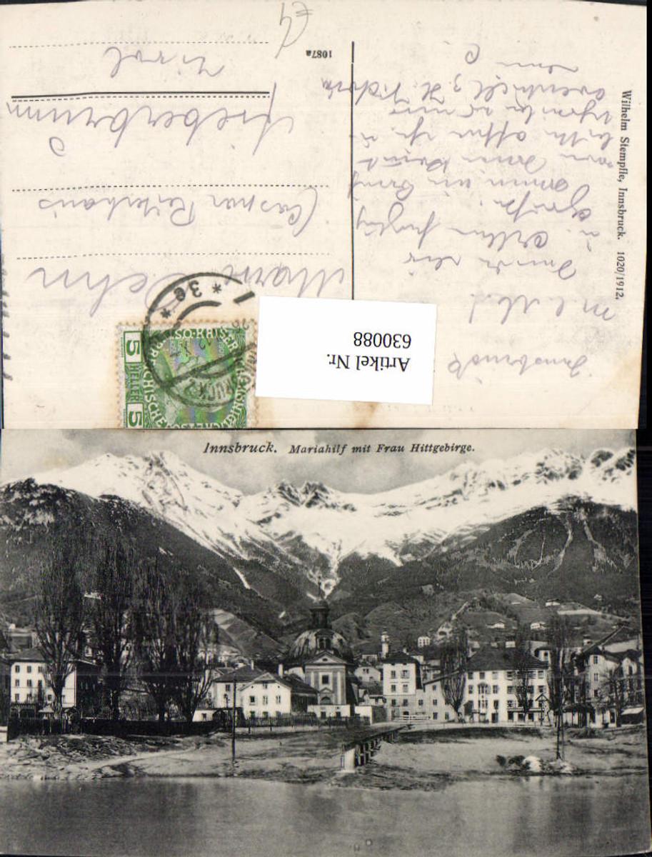630088,Innsbruck Mariahilf m. Frau Hittgebirge günstig online kaufen
