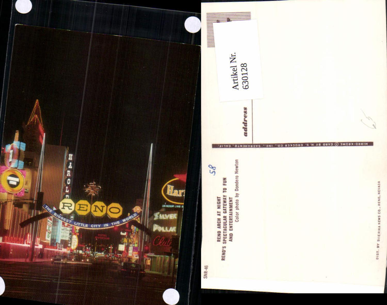 630128,Reno Arch at night Renos spectacular Gateway to Fun and Entertainment Nevada günstig online kaufen