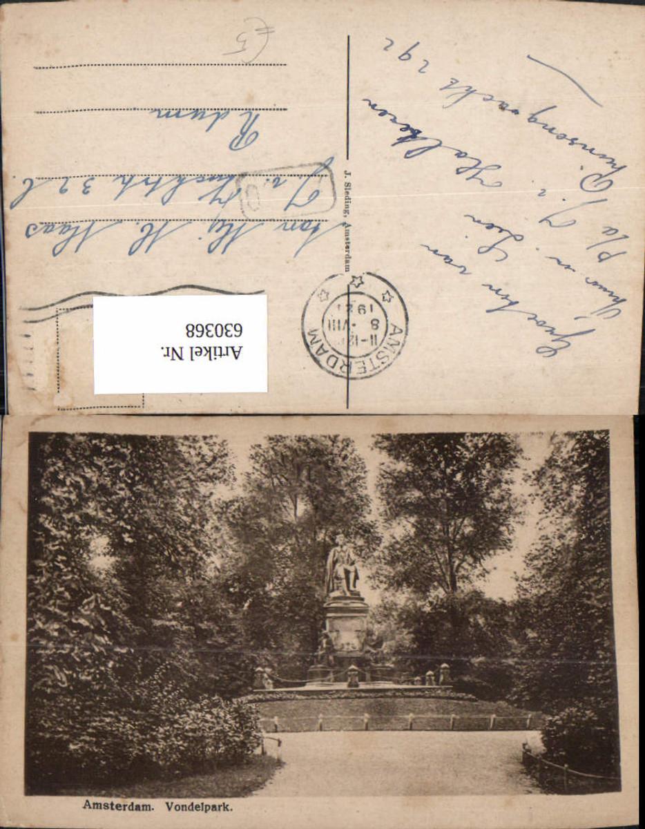 630368,Amsterdam Vondelpark Statue Netherlands günstig online kaufen