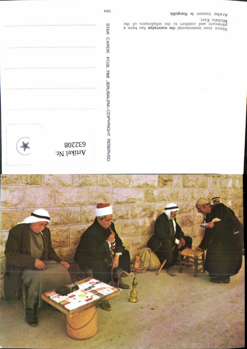 632208,Arabe fumant le Narguile The Waterpipe Wasserpfeife Volkstypen Rauchen günstig online kaufen