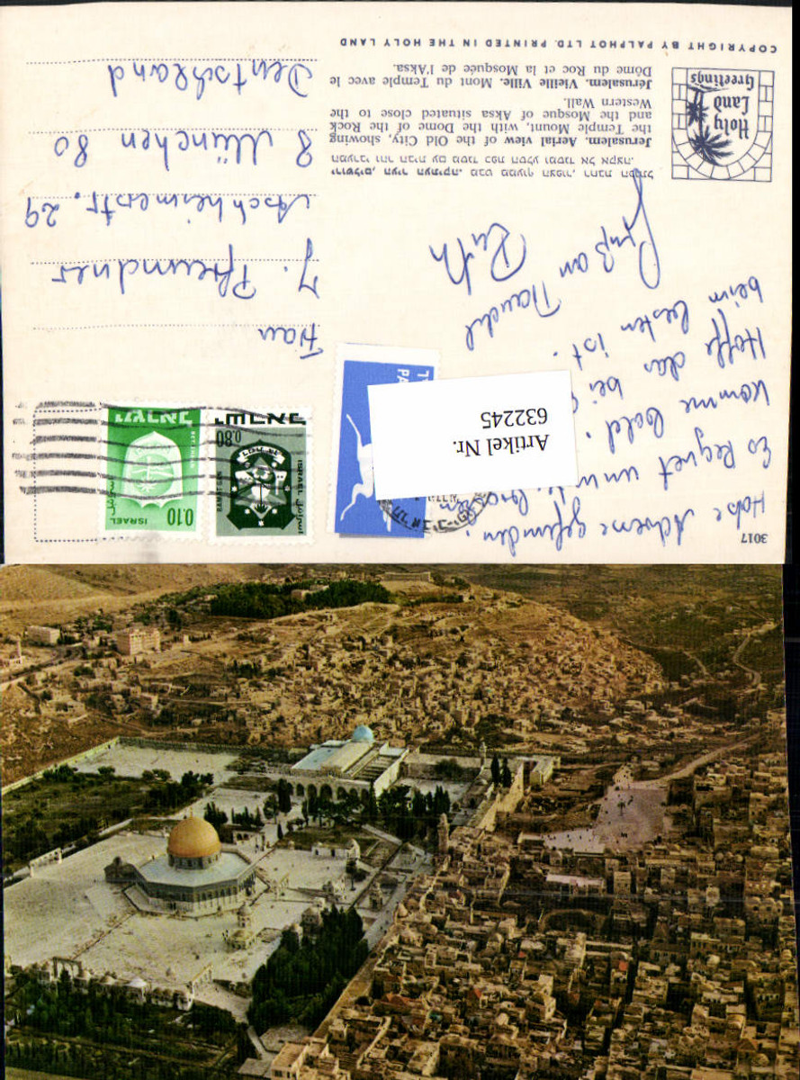 632245,Jerusalem Aerial view of the Old City Temple Mount Dome of the Rock Western Wall günstig online kaufen
