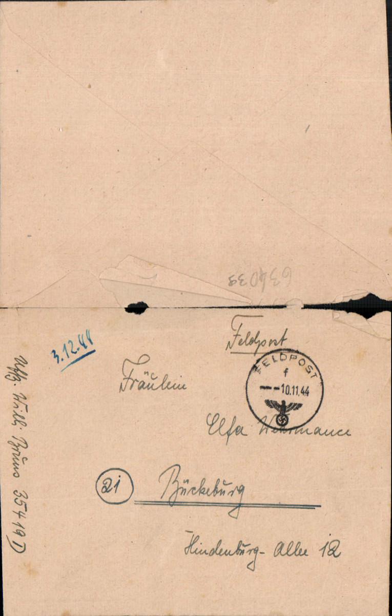 634039,WK 2 Feldpost 35419 D n. Bückeburg 1944 oh. Inh. günstig online kaufen