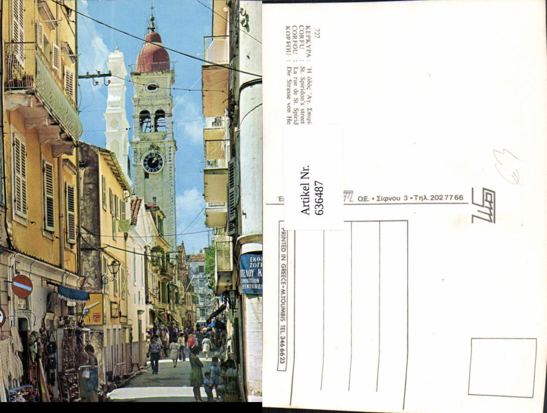 636487,Korfu Corfu St Spiridons street Strasse d. Heil Spiridon Greece günstig online kaufen