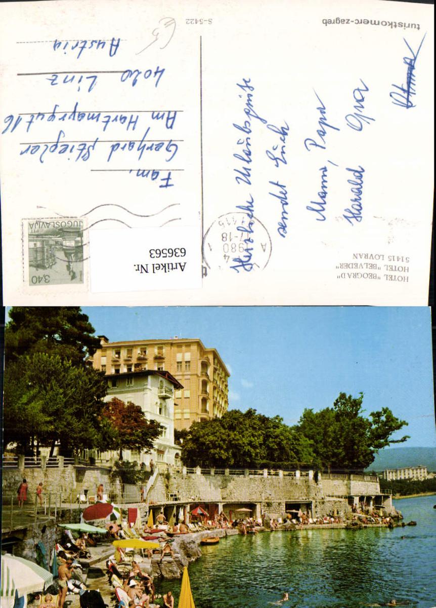 636563,Lovran Hotel Beograd Belveder Strandleben Croatia günstig online kaufen