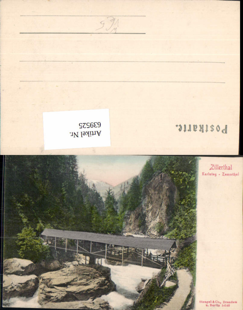 639525,Zillerthal Zillertal Karlsteg Zemmtal Mayrhofen Ginzling pub Stengel Co 14148 günstig online kaufen