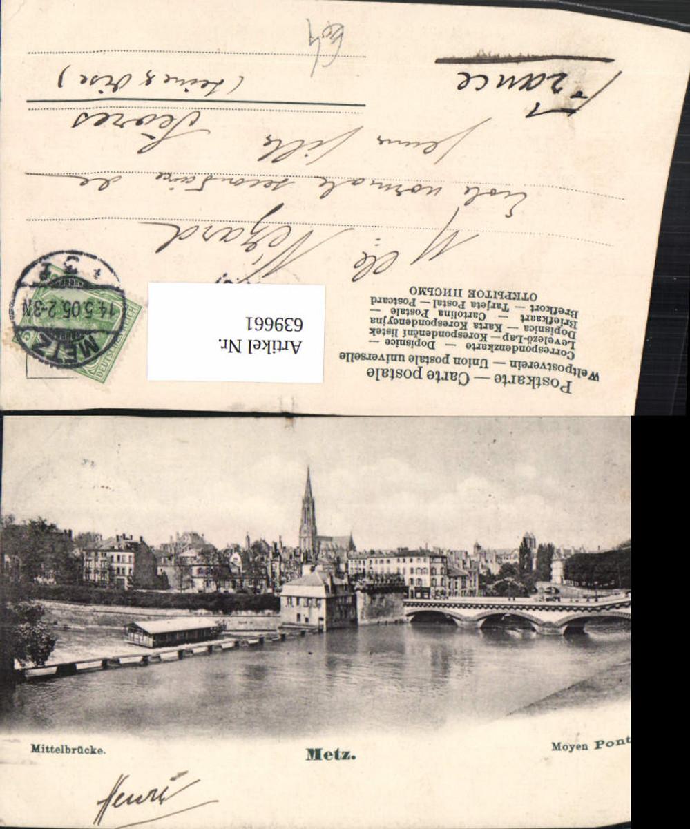 639661,Metz Moyen Pont Mittelbrücke Brücke France günstig online kaufen
