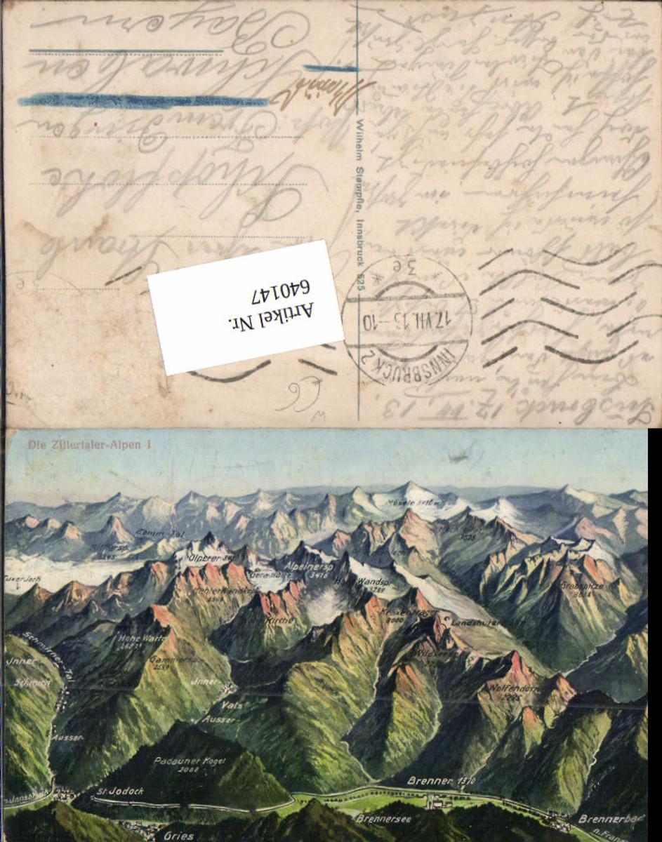 640147,Zillertaler Alpen Vogelschau Brenner Gries Vals St. Jodock Jodok Brennerbad günstig online kaufen